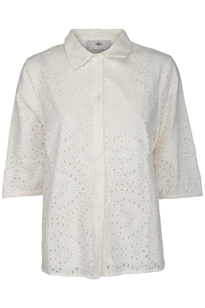 Friendtex Alette Bluse Cloudy White